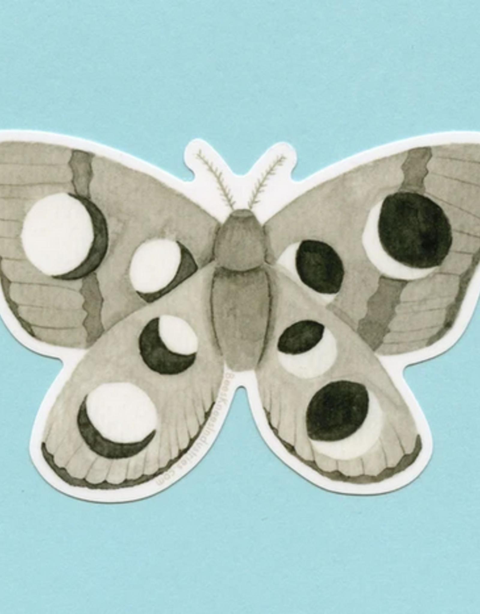 Bee's Knees Industries Lunar Moth Vinyl Sticker*