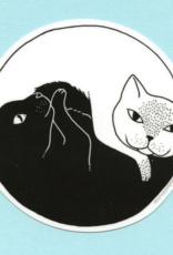 Bee's Knees Industries Yin Yang Cats Vinyl Sticker*