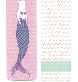 Bee's Knees Industries White Purrmaid Bookmark