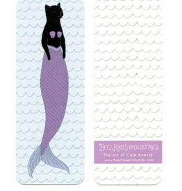 Bee's Knees Industries Black Purrmaid Bookmark