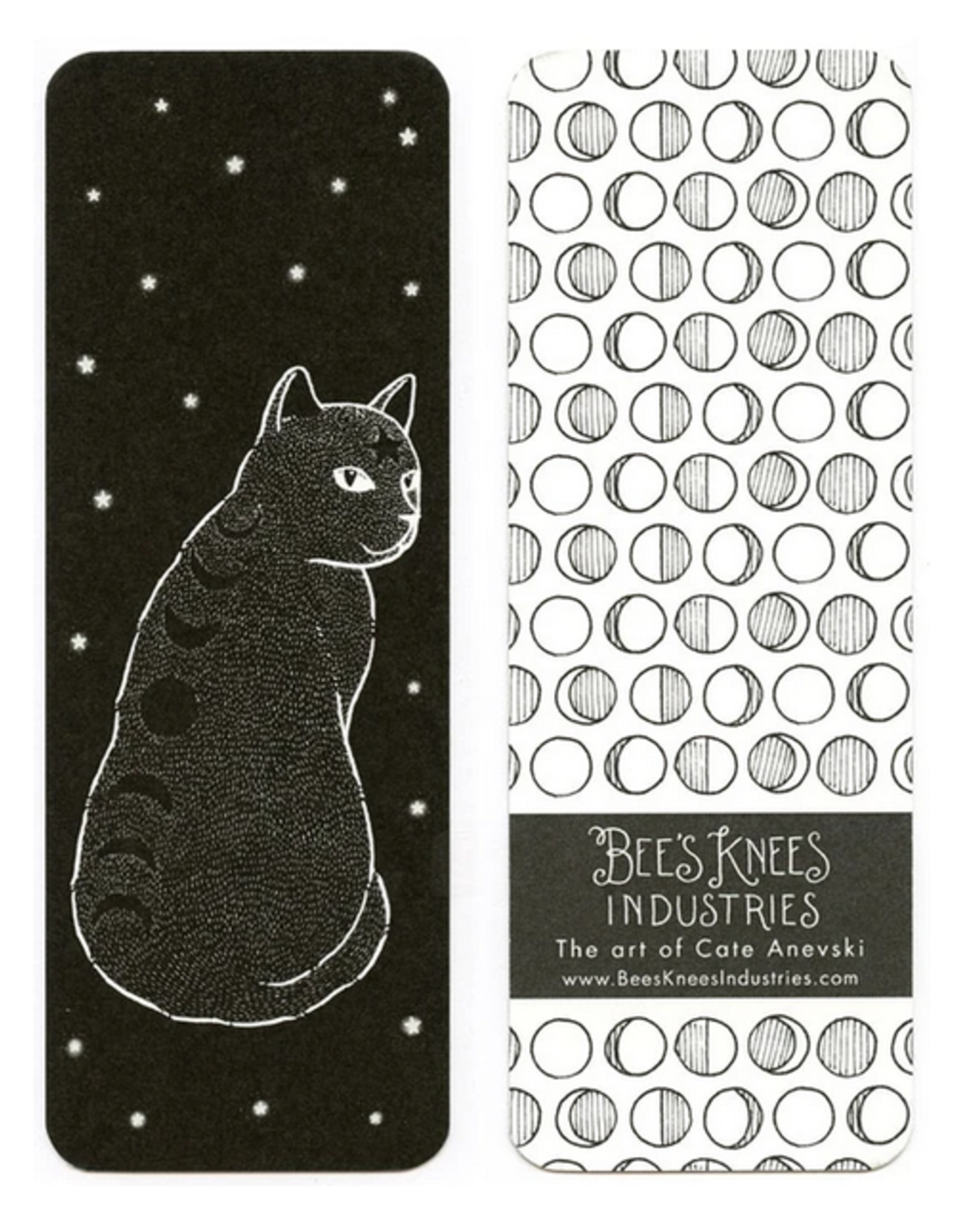 Bee's Knees Industries Moon Phase Cat Bookmark*