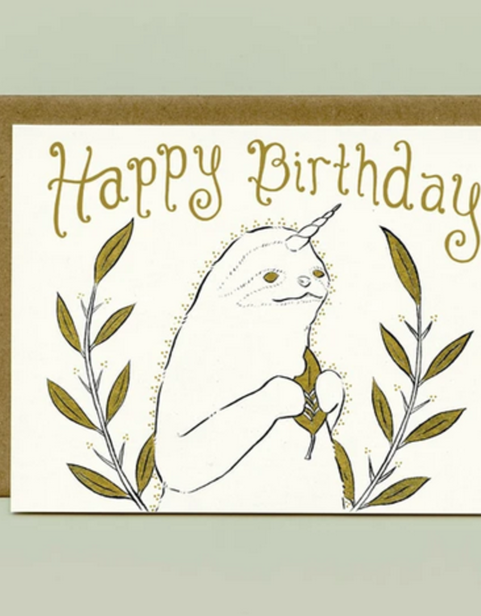 Bee's Knees Industries Slothicorn Birthday Card