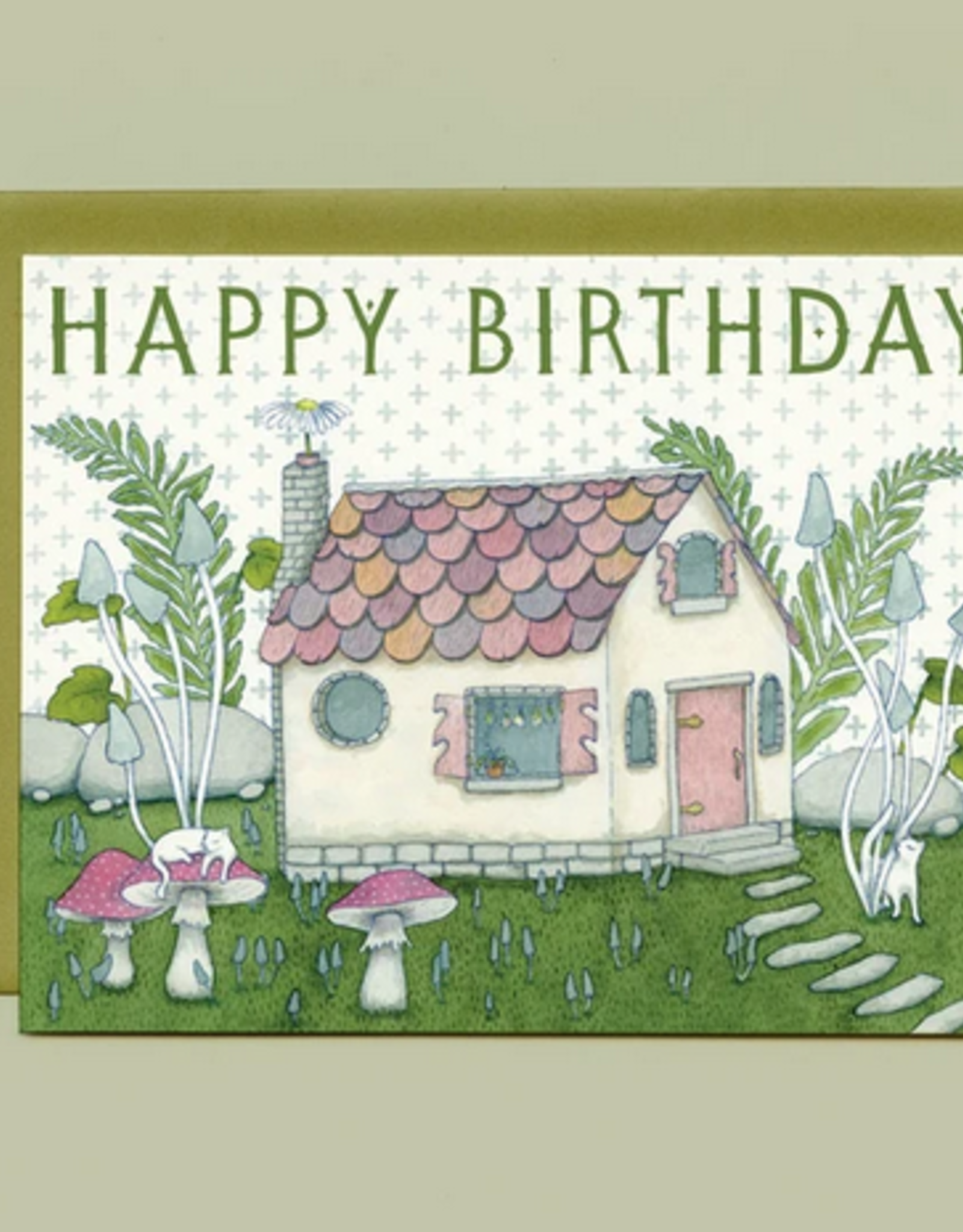 Bee's Knees Industries Tiny Witch's Cottage Birthday Card