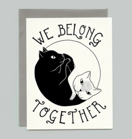Bee's Knees Industries Yin Yang Cats Love and Friendship Card
