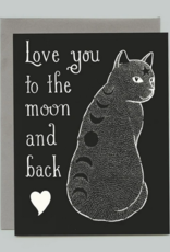 Bee's Knees Industries Moon Phase Cat Love and Friendship Card