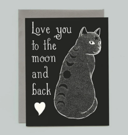 Bee's Knees Industries Moon Phase Cat Love and Friendship Card*