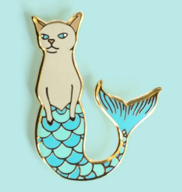 Bee's Knees Industries Purrmaid Enamel Pin