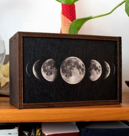 "Most Amazing Moon Phases Full Color Tarot Card/Stash Box: 3""x4"""