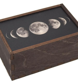 "Most Amazing Moon Phases Full Color Tarot Card/Stash Box: 4""x6"""