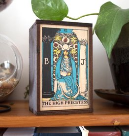 "Most Amazing Tarot - 2 - The High Priestess Full Color Stash Box: 4""x6"""