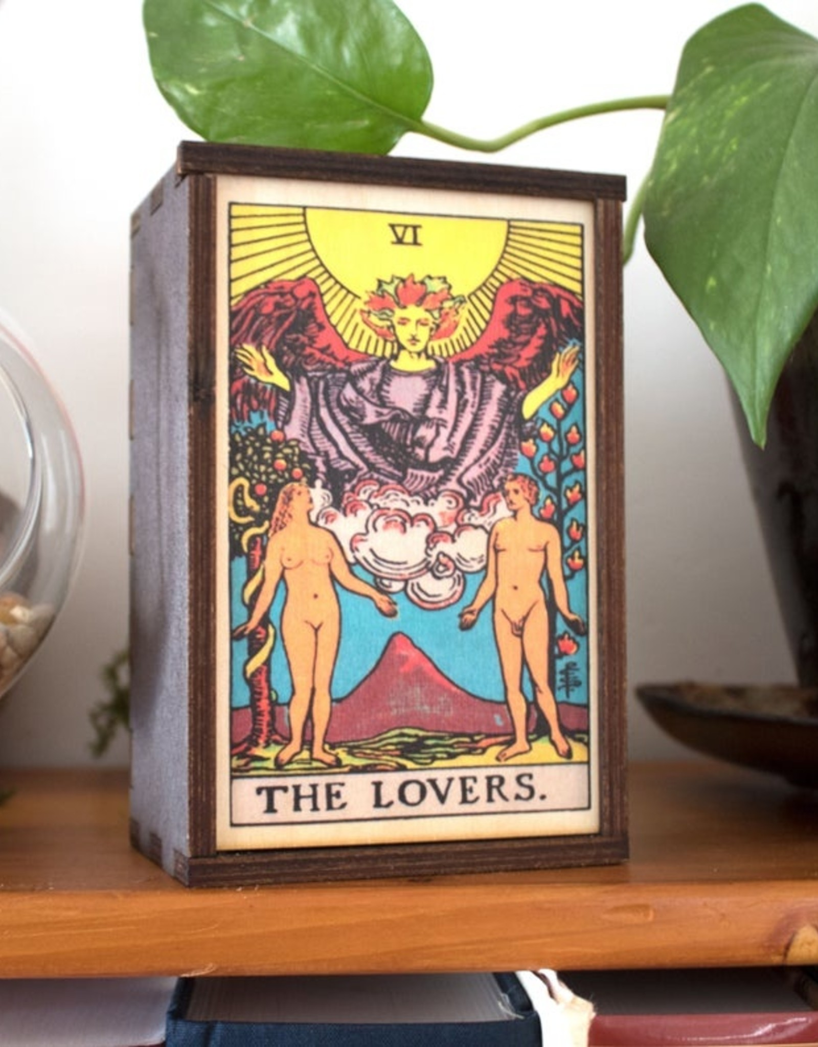 """Most Amazing Tarot - 6 - The Lovers Full Color Stash Box: 4""""x6"""""""
