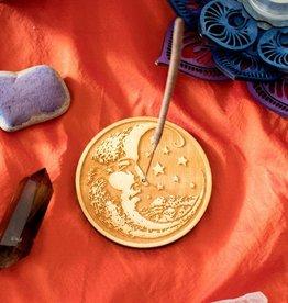 Most Amazing Woodcut Moon Stick Incense Burner