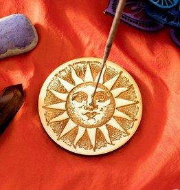 Most Amazing *Woodcut Sun Stick Incense Burner