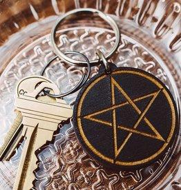 Most Amazing Pentagram Wooden Keychain