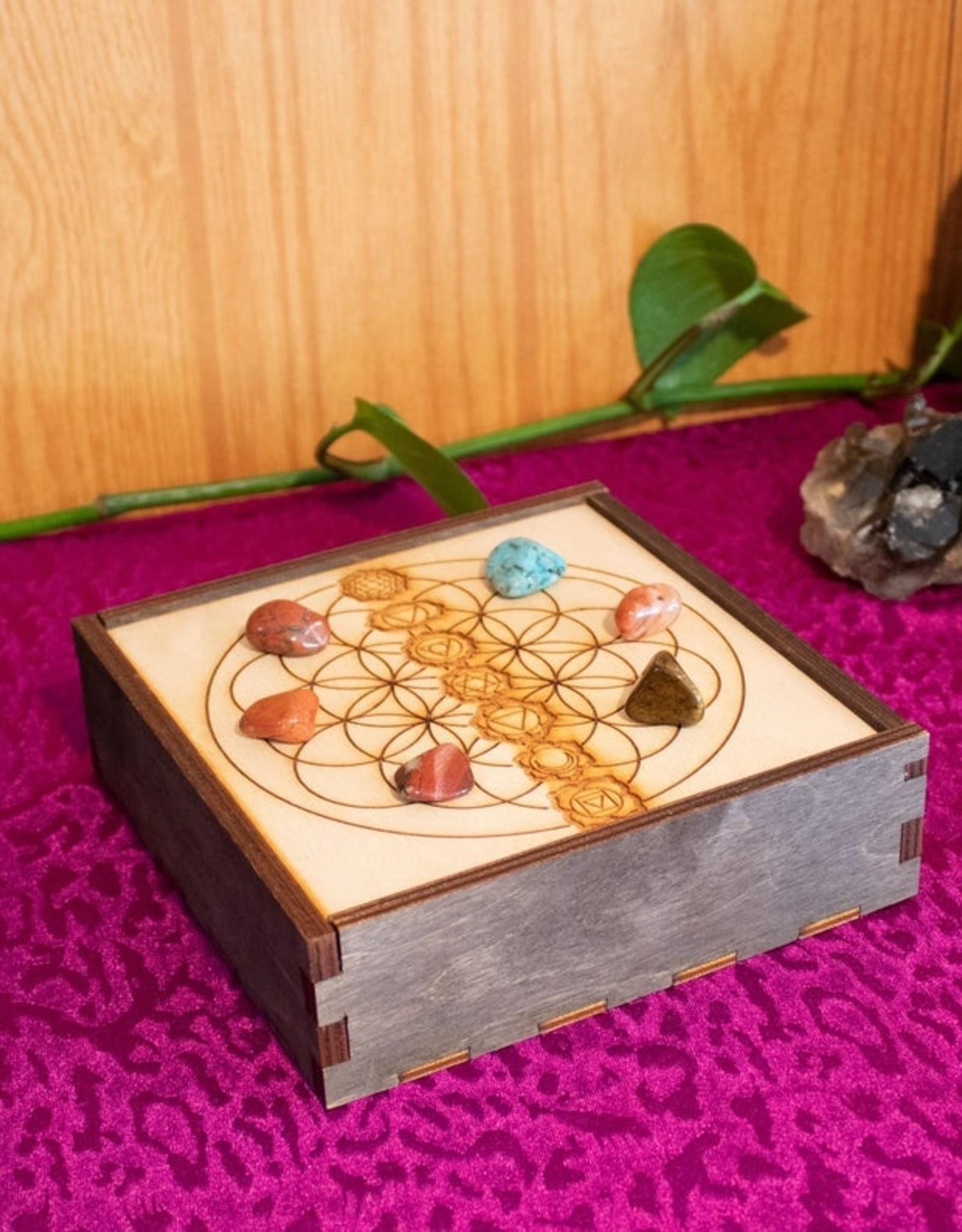 "Most Amazing Chakra Crystal Grid Box 6""x6"""