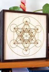 "Most Amazing Metatron's Cube Crystal Grid Box: 6""x6"""