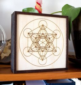 "Most Amazing Metatron's Cube Crystal Grid Box: 6""x6"""