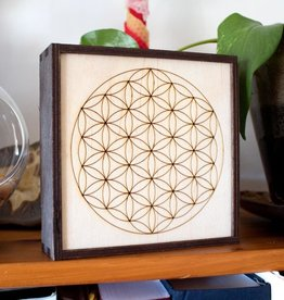 "Most Amazing Flower of Life Crystal Grid Box 6""X6"""