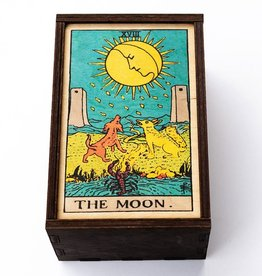 "Most Amazing Tarot - 18 - The Moon Full Color Stash Box: 4""x6"""