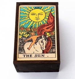 "Most Amazing Tarot - 19 - The Sun Full Color Stash Box: 4""x6"""