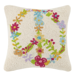 Peking Handicraft Floral Peace Hook Pillow