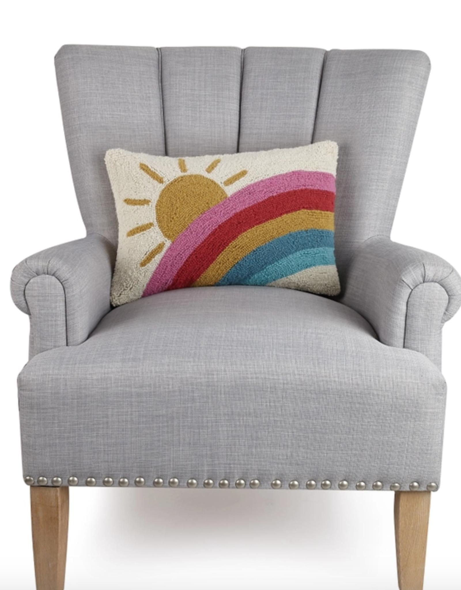 Peking Handicraft Sun and Rainbow Hook Pillow