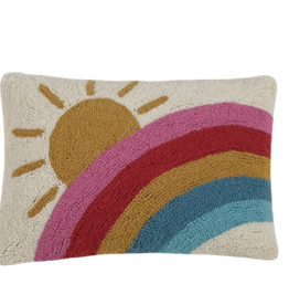Peking Handicraft Sun and Rainbow Hook Pillow