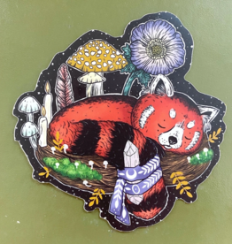 Marika Paz Illustration Magical Red Panda Sticker