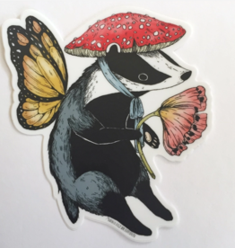 Marika Paz Illustration Badger Fairy Sticker*