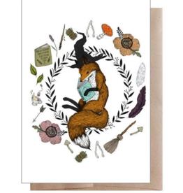 Marika Paz Illustration Magic Student Fox Greeting Card
