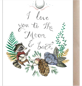 Marika Paz Illustration Love You To The Moon Greeting Card