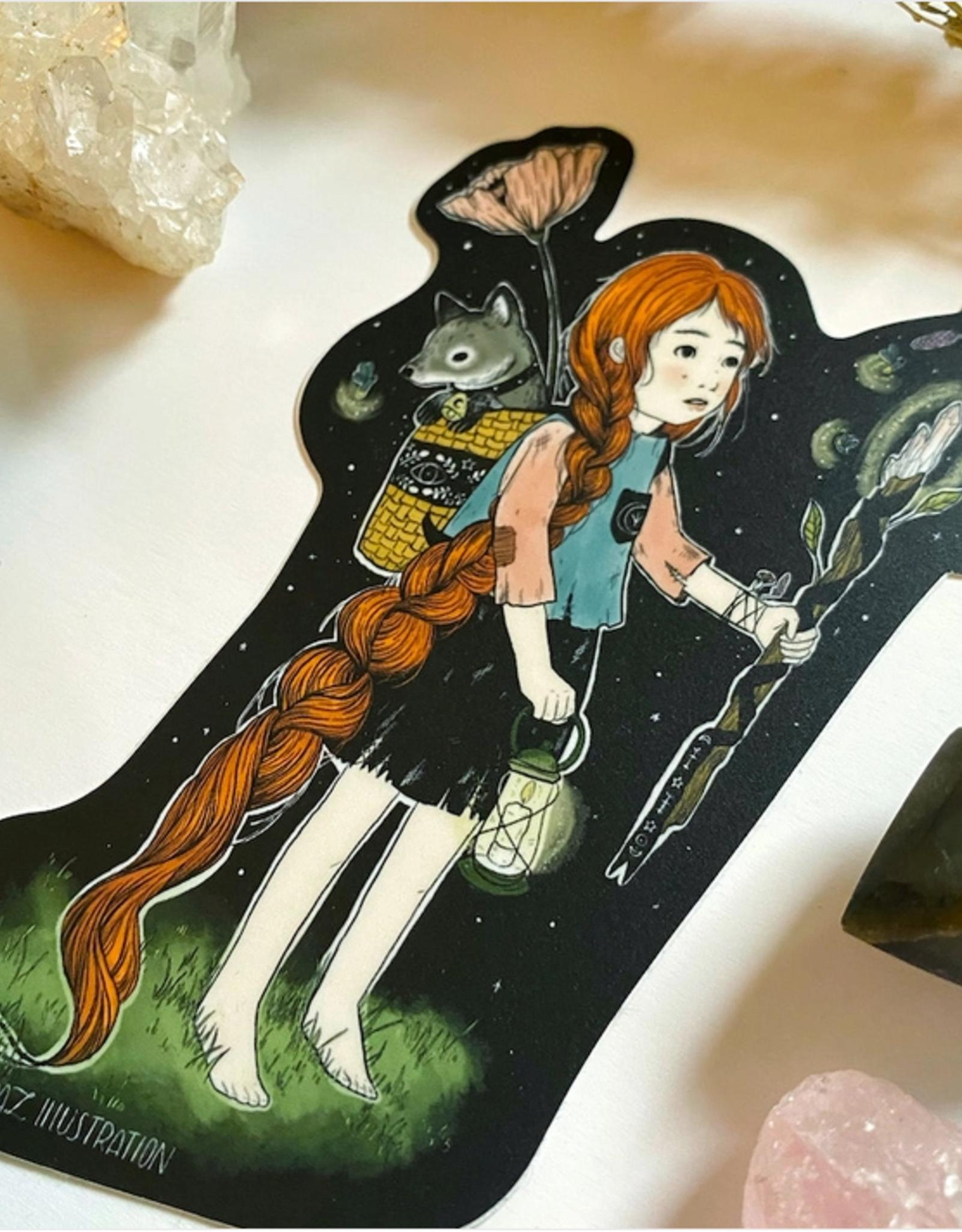 Marika Paz Illustration Forest Witch Sticker