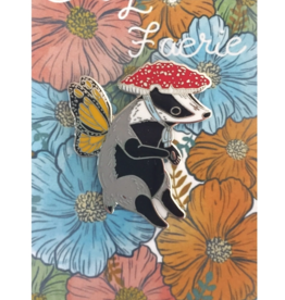 Marika Paz Illustration Badger Faerie Pin
