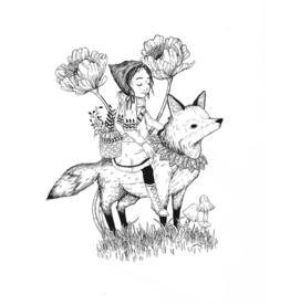 "Marika Paz Illustration 8.5"" x 11"" Woodland Forager Art Print (DC)"