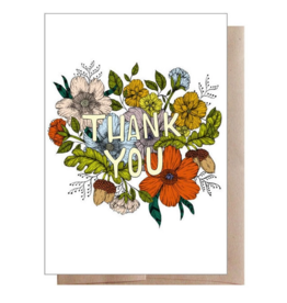 Marika Paz Illustration Thank You Greeting Card