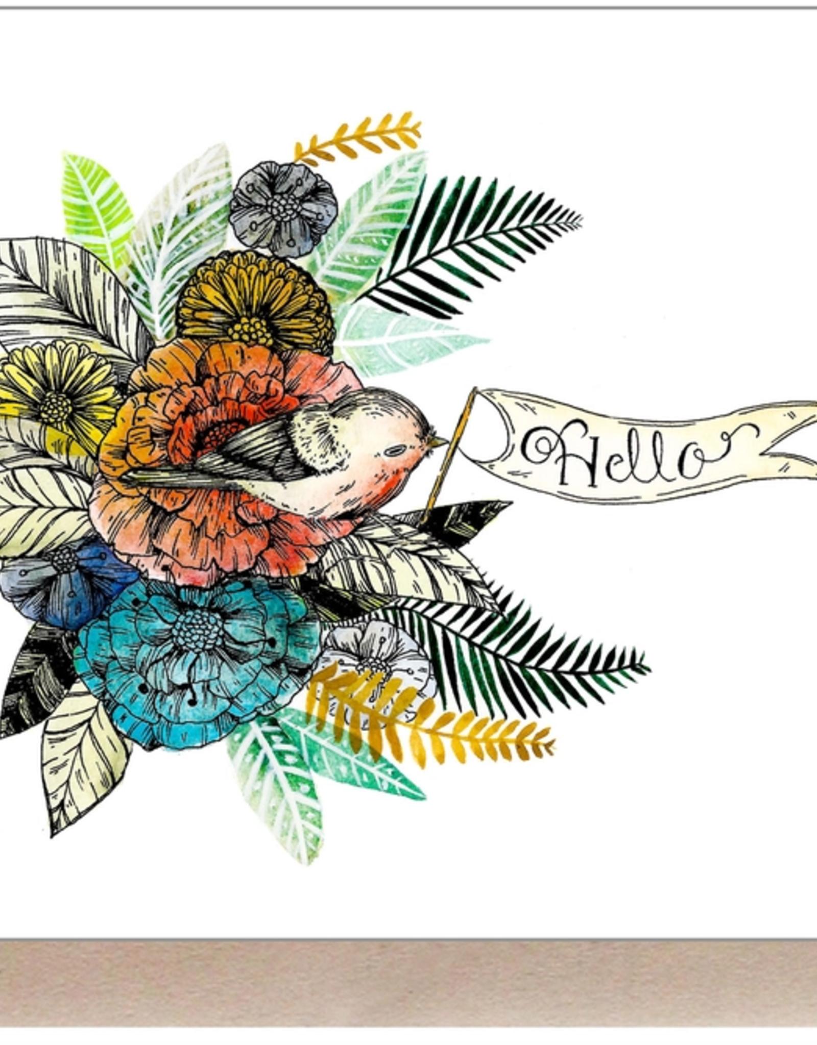 Marika Paz Illustration Hello Greeting Card