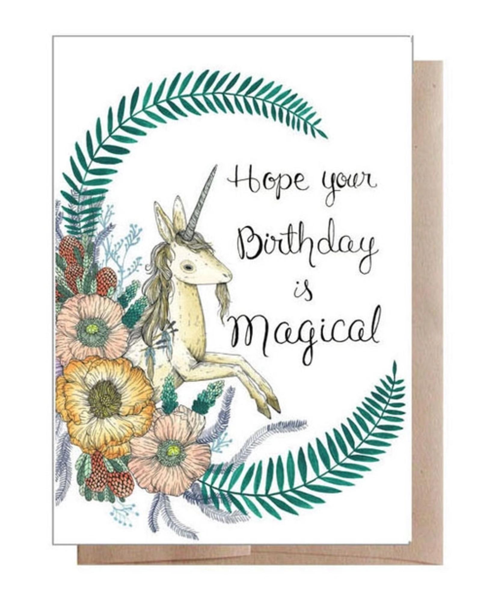 Marika Paz Illustration Magical Birthday Greeting Card