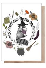 Marika Paz Illustration Magic Student Raccoon Greeting Card