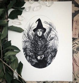 Caitlin McCarthy Art Green Witch Print