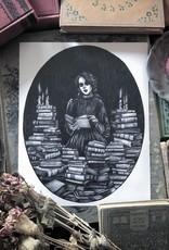 Caitlin McCarthy Art Bury Me in Books Print