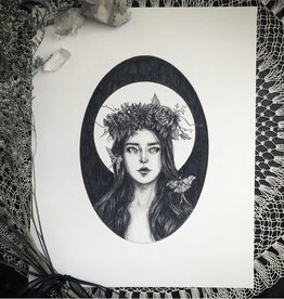 Caitlin McCarthy Art Luna Moth Print