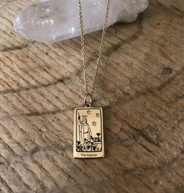 Memento Mori Designs NYC The Magician Tarot Charm on a chain necklace