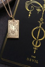 Memento Mori Designs NYC The Devil Tarot Charm on a chain