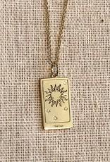 Memento Mori Designs NYC The Sun Tarot Charm with chain
