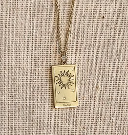Memento Mori Designs NYC The Sun Tarot Charm with chain