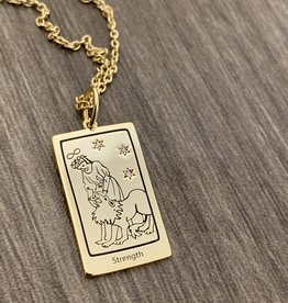 Memento Mori Designs NYC Strength Tarot Charm with Chain