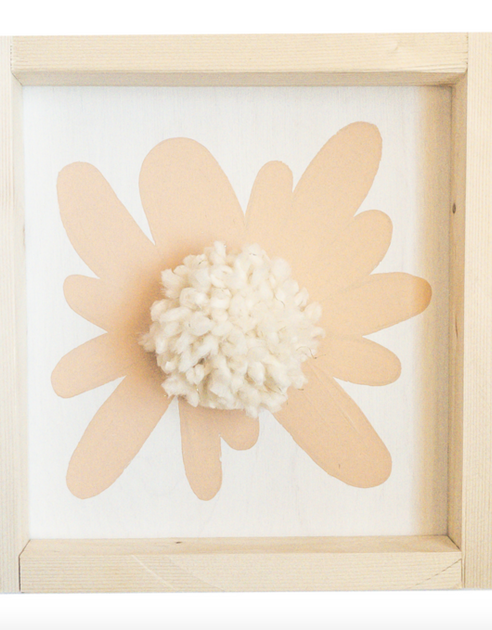 Love, Holston Pom Pom Flower (Peach) 10x10