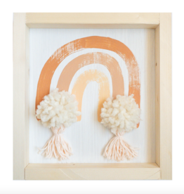 Love, Holston Rainbow with Pom Pom & Tassels (Terra-Cotta) 10x10