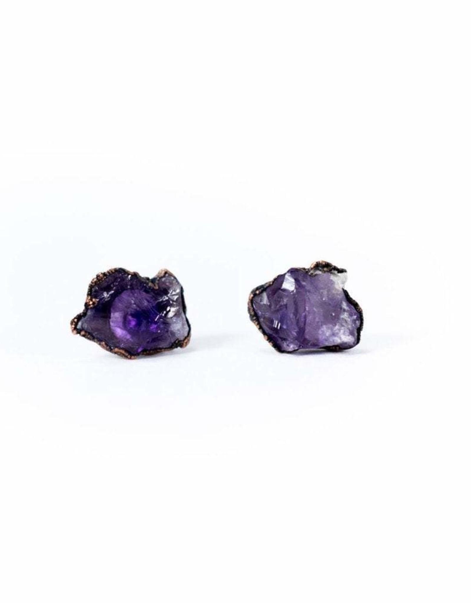 HawkHouse Amethyst crystal earrings