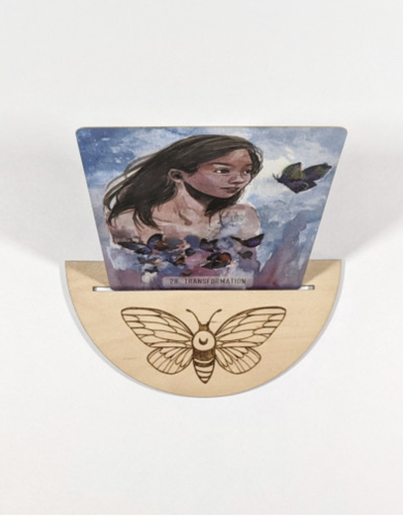 Ritual Pursuits Half Circle Tarot Card Holder- Moth (DC)